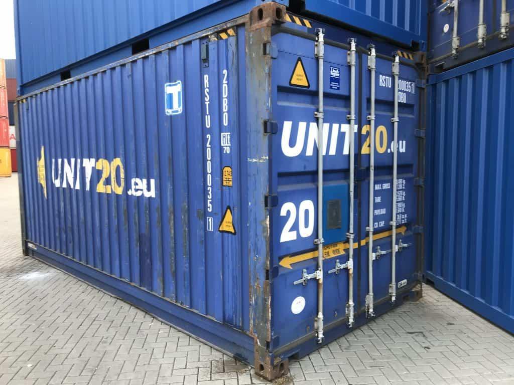20'PW (praplatintas) konteineris