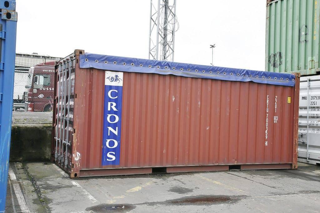 20'OT (atveriamu viršumi) konteineris