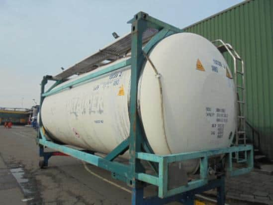 23'TC (cisterninis) konteineris