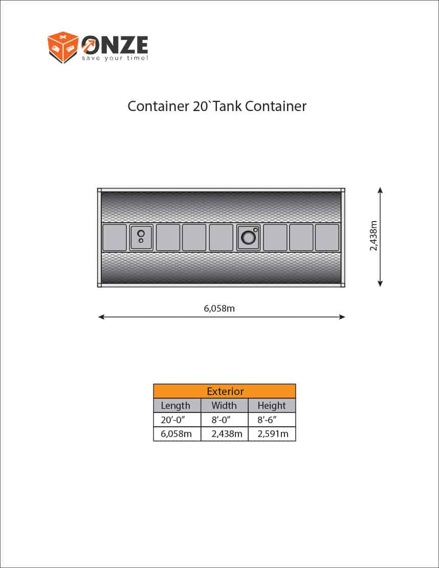 container 20'Tank Container
