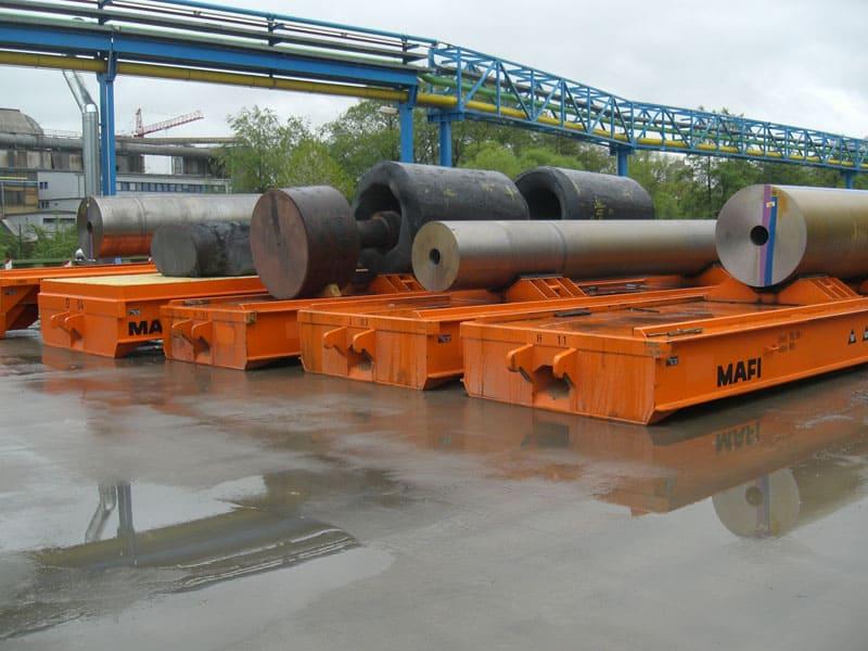 Oversize loads on roll trailers
