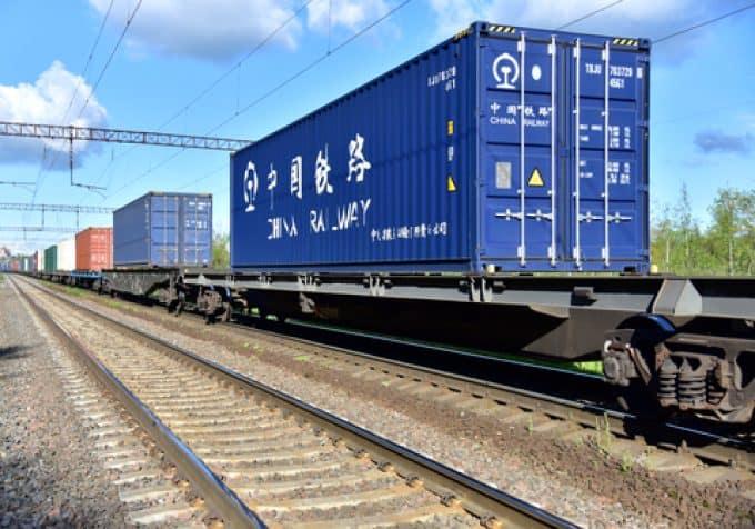 Konteinerių gabenimas greitaisiais traukiniais iš Kinijos